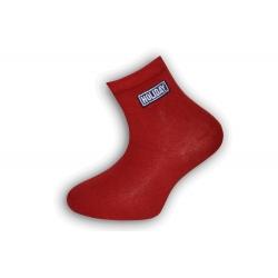 Červené bavlnené detské ponožky