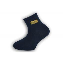 Tm. modré bavlnené detské ponožky