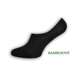 Bambusové neviditeľné čierne ponožky