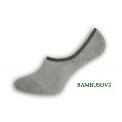 IBA 39-42! Perforované bambusové ponožky - sivé