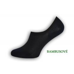Perforované bambusové ponožky - modré