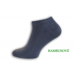 IBA 39-42! Sivé bambusové kotníkové ponožky