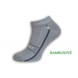 IBA 39-42! Sivé športové bambusové ponožky
