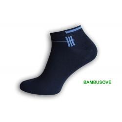 Bambusové modré kotníkové ponožky