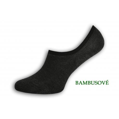 Bambusové neviditeľné tm.sivé ponožky