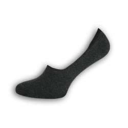 Čierno-sivé extra nízke pánske ponožky