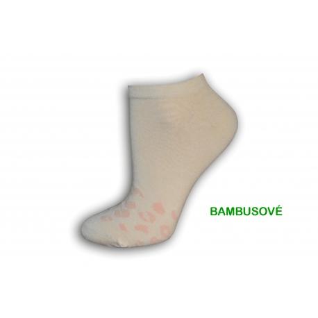 Marhuľové bambusové dámske ponožky