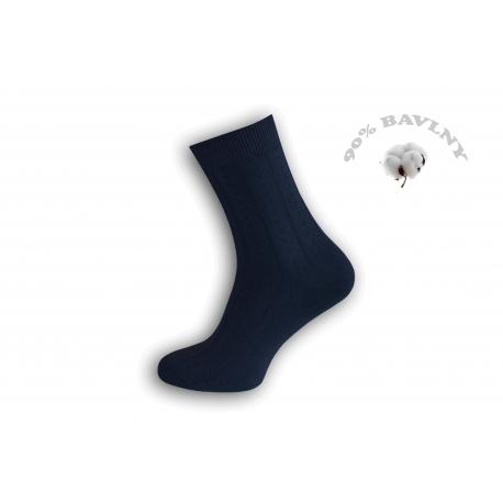 Bavlnené jednofarebné oblekové pánske ponožky