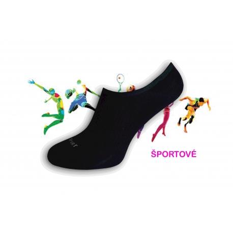 Novinka! Športové neviditeľné čierne pánske ponožky