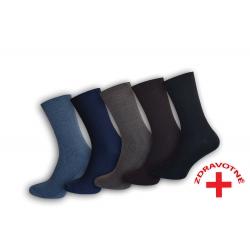 Pánske zdravotné ponožky. 5-párov mix farba