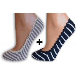 Bl.hnedé + modré balerínkové ponožky
