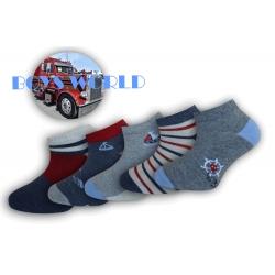 Chlapčenské kotníkové ponožky - 5-párov