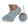 Pistáciové neviditeľné detské ponožky