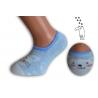 Modré neviditeľné detské ponožky