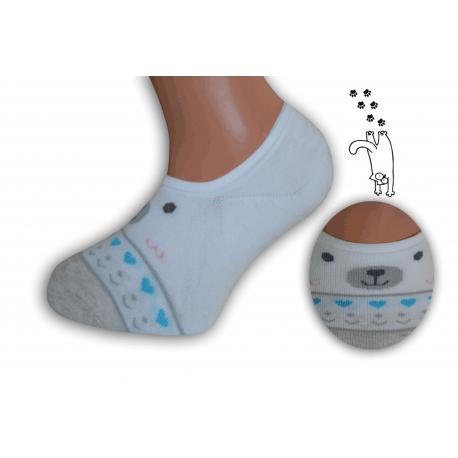 Neviditeľné detské ponožky so vzorom