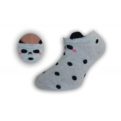 Bodkované detské kotníkové ponožky