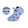 Bodkované detské kotníkové ponožky - biele