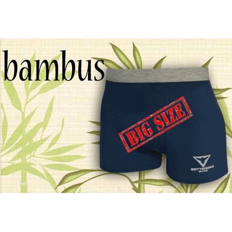 Nadrozmerné bambusové bl. modré boxerky