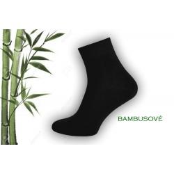 Vyšší kotník. Čierne bambusové ponožky.