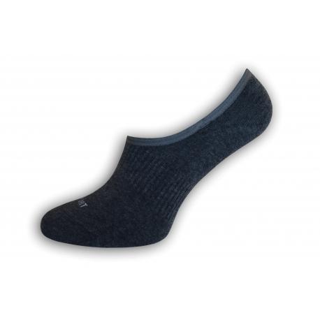 Nespadnú! Tm.sivé športové pánske ponožky