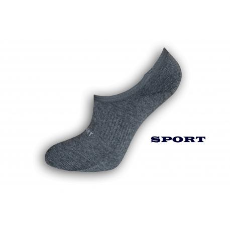 NESPADNÚ! Šedé športové dámske ponožky