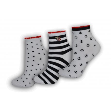 Obľúbené bavlnené dámske ponožky  3-páry