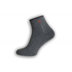 Sivé bavlnené pánske ponožky