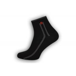 IBA 39-42! Čierne bavlnené pánske ponožky