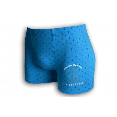 Bambusové modré boxerky s kotvou