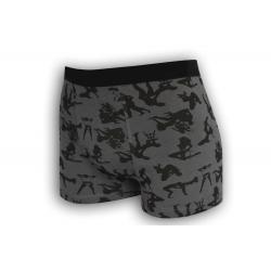 IBA 2XL! Vzorované pánske boxerky s kamasutrou