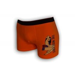 Oranžové sexi boxerky so ženou
