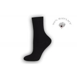 Dámske čierne bavlnené ponožky