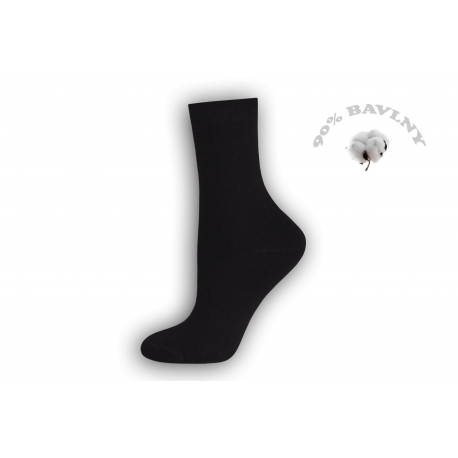 Ponožky dámske vysoké  čierne.