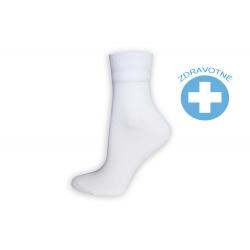 Obľúbené zdravotné dámske ponožky - biele