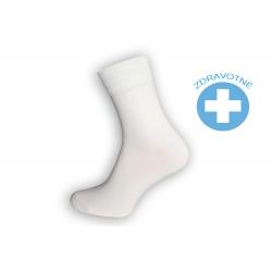 Biele pánske zdravotné ponožky