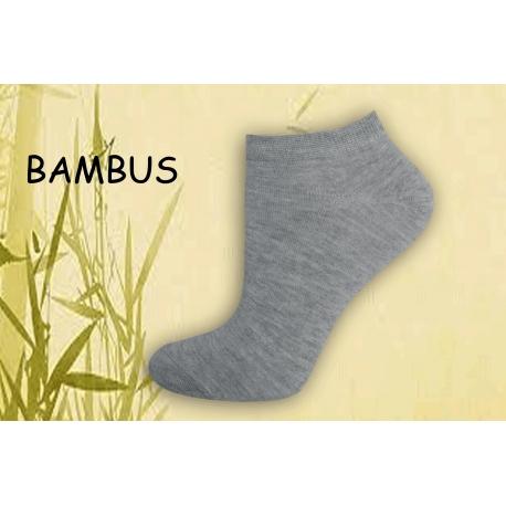 Bambusové krátke dámske ponožky - sivé