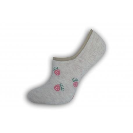 Neviditeľné dámske ponožky s malinami