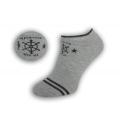 Pánske námornícke kotníkové ponožky - sivé