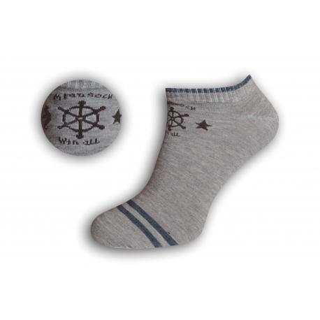 Pánske námornícke kotníkové ponožky – béžové