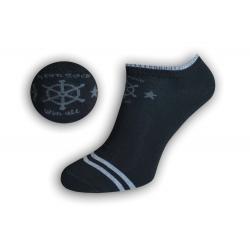 Pánske námornícke kotníkové ponožky – čierne