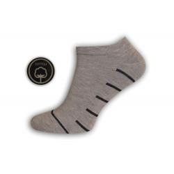 Bl.hnedé pánske kotníkové ponožky