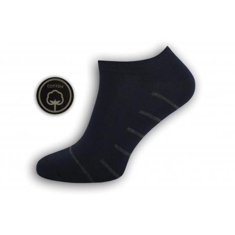 Tm.modré pánske kotníkové ponožky