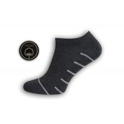 Sivé pánske kotníkové ponožky