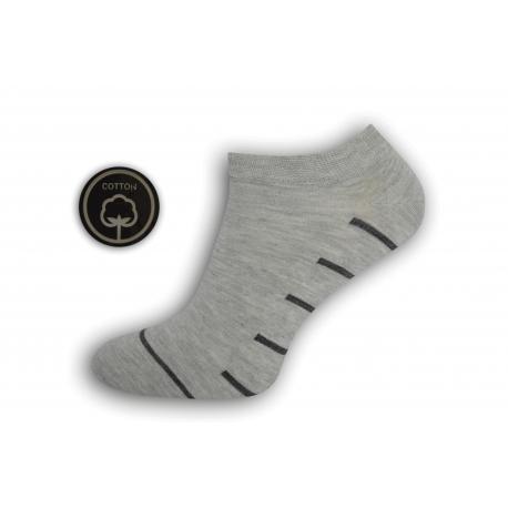 Bl.sivé pánske kotníkové ponožky