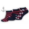 Tri páry kotníkových pánskych ponožiek