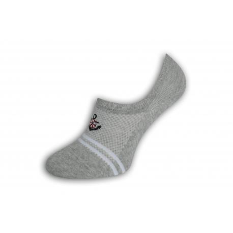 Sivé perforované pánske ponožky s kotvou