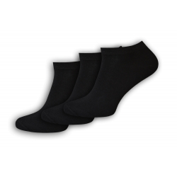 Kvalitné čierrne kotníkové ponožky 3-páry