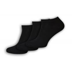 IBA 39-42! Kvalitné čierrne kotníkové ponožky 3-páry