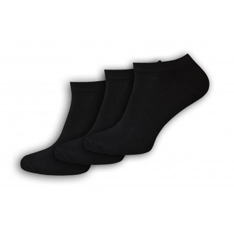Lacné čierne kotníkové ponožky výhodné 3 balenie