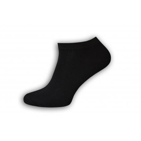 Kvalitné pánske bavlnené ponožky kotníkové v čiernej farbe
